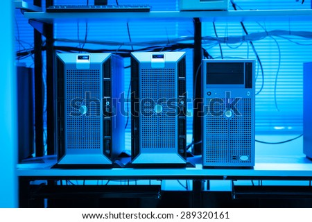 An Network servers in data room . - stock photo