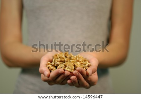 An offering of Walnuts - stock photo