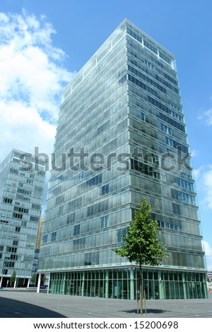 an office building in the European district of Luxembourg city. - stock photo