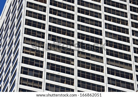 An office building with many windows in Philadelphia - stock photo