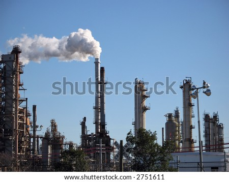 an oil refinery in Chalmette, Louisiana - stock photo