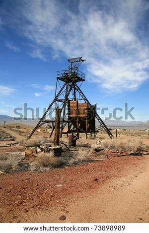 an old abandonded gold mine in americas wild wild west - stock photo