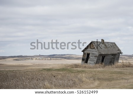 An old abandoned house on the North Dakota Prairie