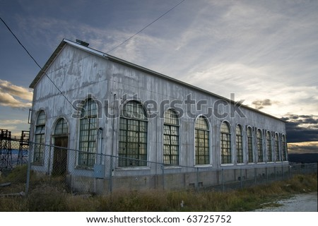 An old, abandoned warehouse in Butte, Montana - stock photo