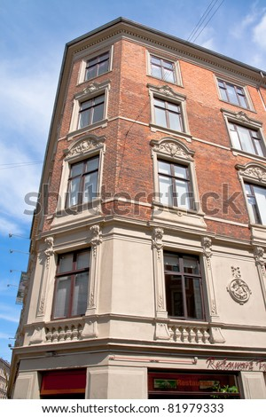An old architecture in Copenhagen - stock photo