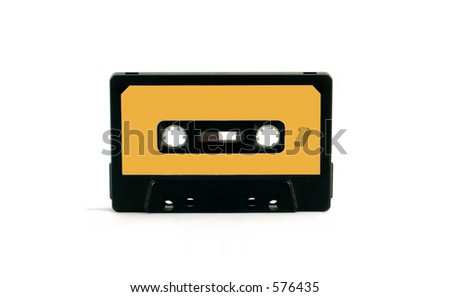 An old audio cassette (Music 02) - stock photo