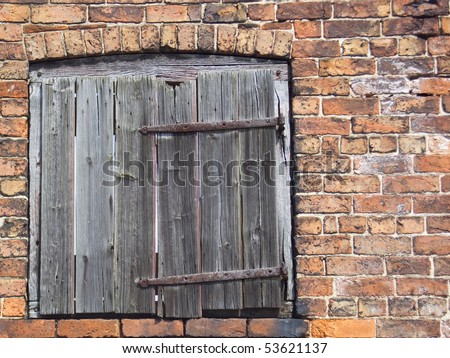 Old Barn Door Side Derelict Brick Stock Photo Safe To Use 53621137