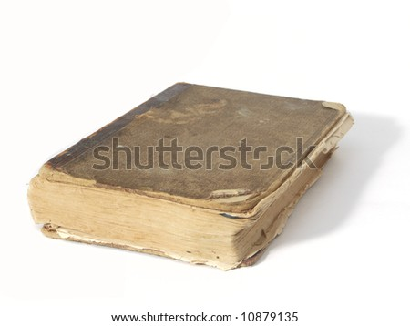 An old book on white background