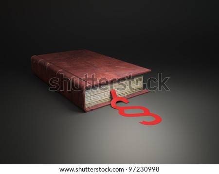 An old book with section sign - law and legislation concept - stock photo