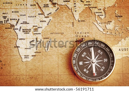 Old Compass On Vintage Map Stock Photo Shutterstock - Old us map background