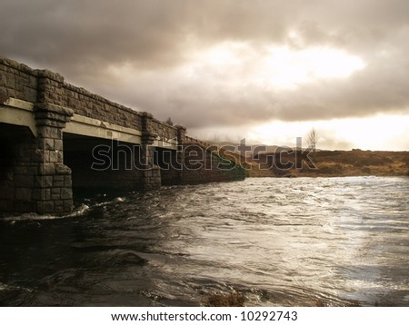 An old bridge in the Scottish Highlands - stock photo