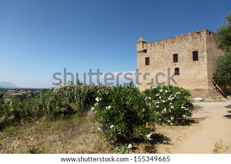 An old castle close to the town Aleria - Corsica - stock photo