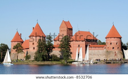 An old castle in Trakai, Lithuania