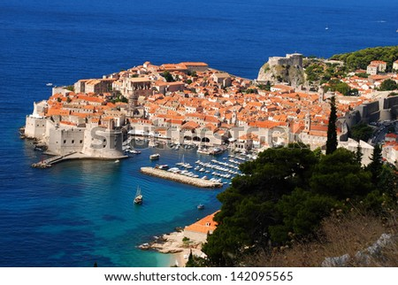 An old city Dubrovnik at Croatia