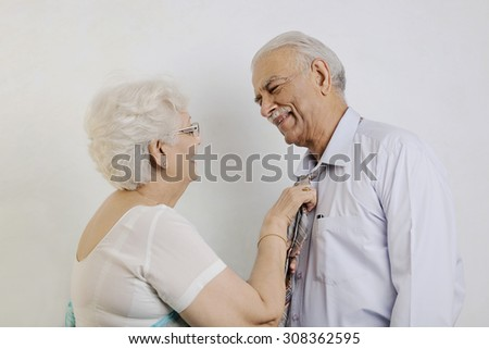 An old couple - stock photo