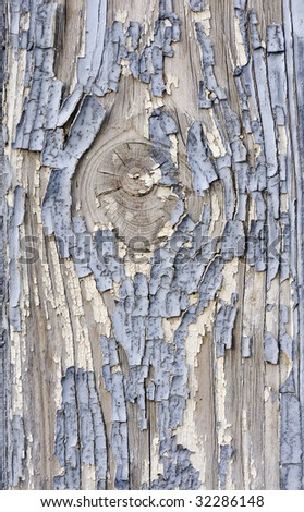 An old cracked painted in white-light blue wood surface - stock photo