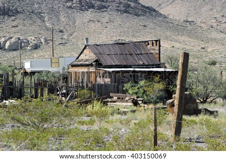 An Old Dilapidated Farm in New Mexico - stock photo