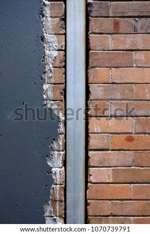 Old Exterior Brick Wall Painted Renderstucco Stock Photo (Download ...