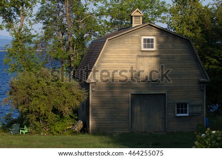 An old farm house in the shadows