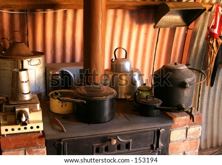 An old fashioned kitchen...