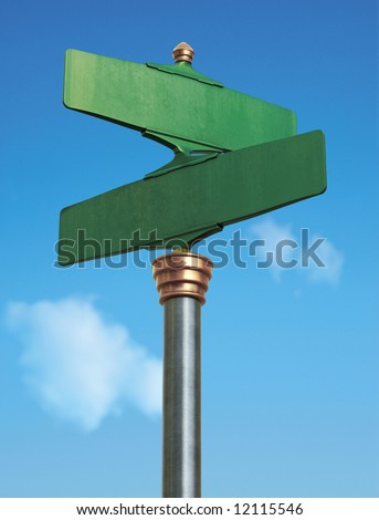 An old-Fashoned street sign for an intersection - stock photo