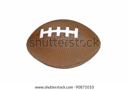 An old football isolated on white. - stock photo