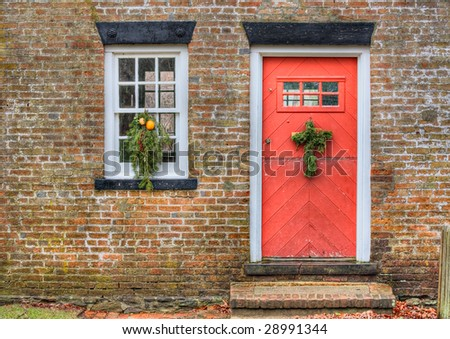 An old Foremans Cottage in Allaire Village, New Jersey constructed in 1827. Allaire village was a bog iron industry town in New Jersey during the early 19th century. - stock photo