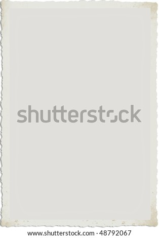 An old foto frame, ilustration - stock photo
