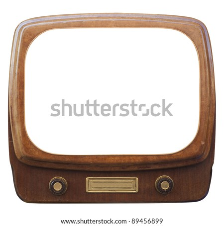 An old framed TV - stock photo
