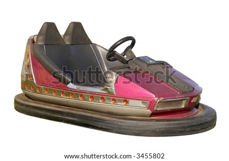 An old funfair bumper car.