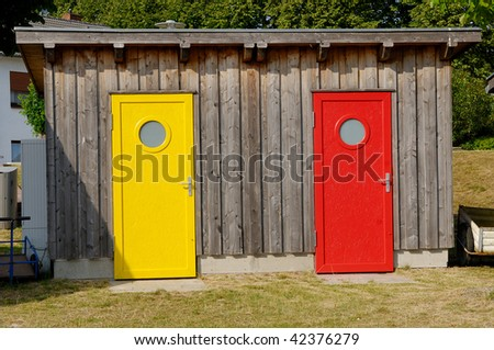 An old garden shed - stock photo