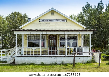 An old general store in a small town - stock photo