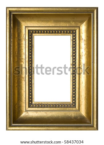 An old gilded picture frame