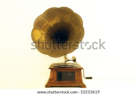 An old gramophone - stock photo