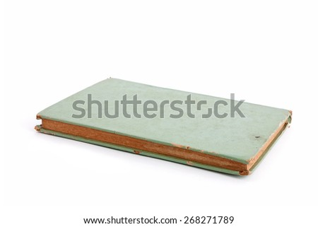 An old green book - stock photo