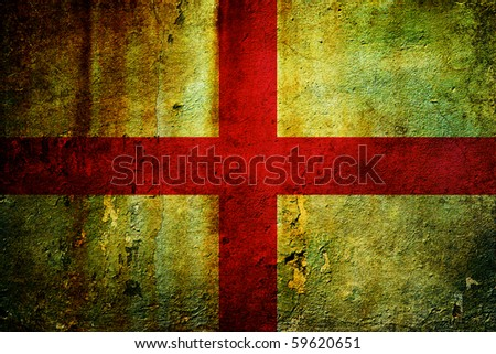 An old grunge flag of England state - stock photo