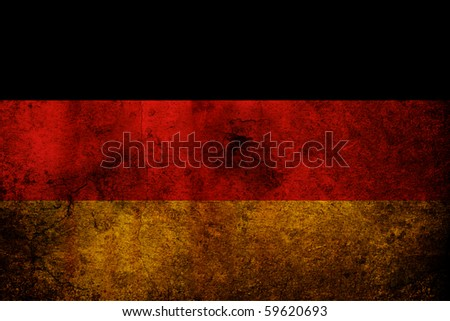 An old grunge flag of Germany state - stock photo