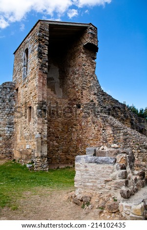 An old medieval ruins in San Quirico d'Orcia  - stock photo