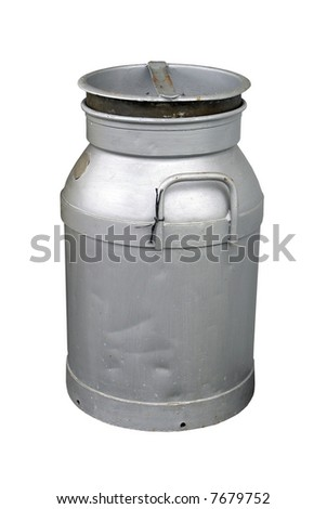 An Old Milk Can - stock photo