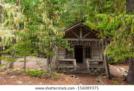 An old Park Ranger cabin in Mt. Rainier National Park, Washington, USA - stock photo