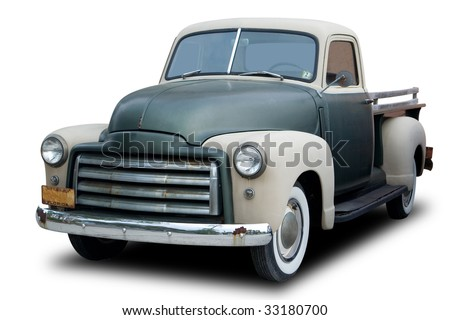 An Old Pickup Truck from the 1950s - stock photo