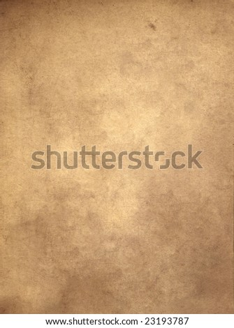 An old piece of parchment, suitable as a background texture. - stock photo