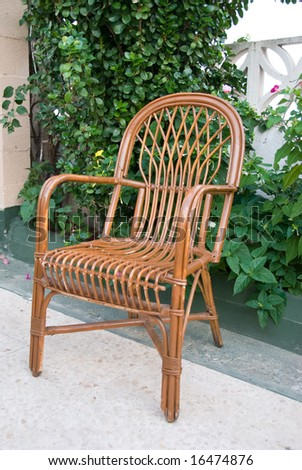 An old rattan chair is ideal for a rest.