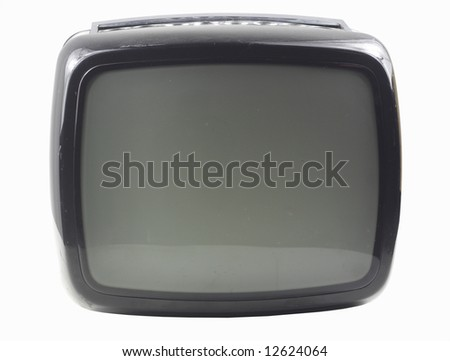 an old retro black television