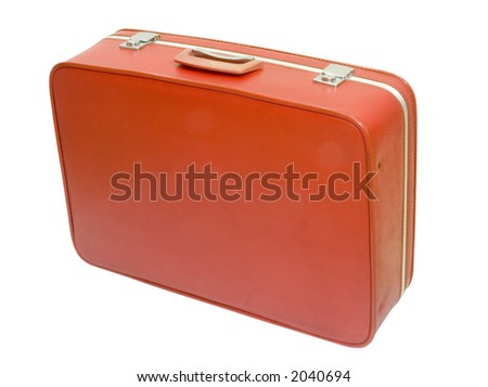 An old retro suitcase used in the sixties