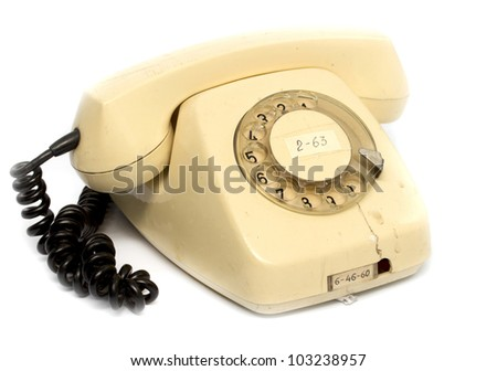 an old rotary phone handset