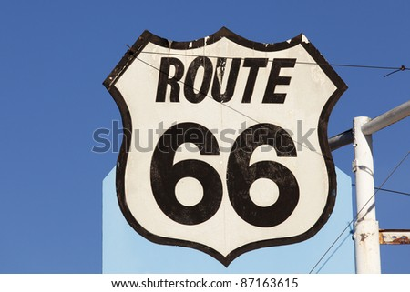 An old route 66 sign in New Mexico.