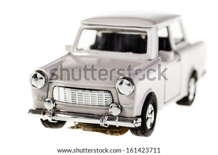 an old russian car model isolated over a white background - stock photo