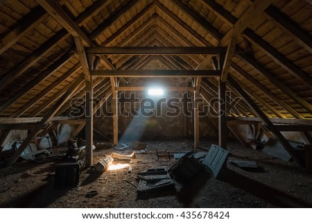 Old Spooky Attic House Stock Photo 435678424 Shutterstock