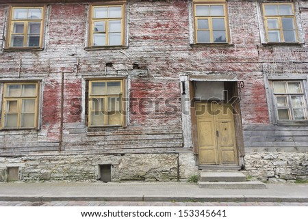 an old street at the old city of Tallinn, Estonia - stock photo